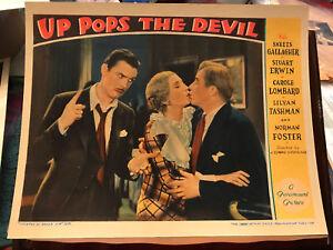 "Up Pops The Devil 1931 Paramount 11x14""lobbycard Lilyan Tashman Skeets Gallagher"