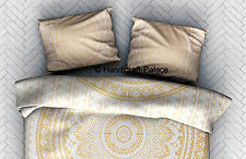 Gold Ombre Mandala Pillow Cover Cotton Handmade Cushion Cover Pillow Case Sham