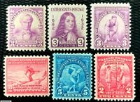 1932-33 US Stamps Year Set SC#716-719 724- 725 MNH/OG CV:$7
