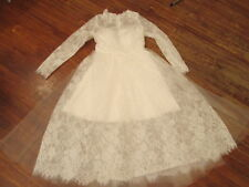 NWT VTG Inspired 50s sheer lace short wedding dress-illusion hem $285-sz 4/6