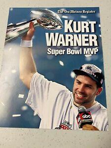 Kurt Warner Super Bowl MVP poster issued by the Des Moines Register