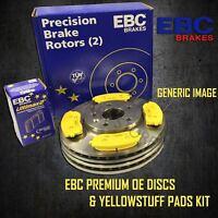 EBC 297mm FRONT BRAKE DISCS + YELLOWSTUFF PADS KIT SET OE QUALITY PD03KF684