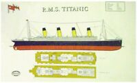 R.M.S. Titanic Deck Plans Linen Union Tea Towel by Samuel Lamont