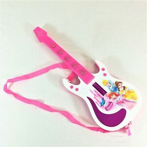 Kids children Princess Musician Guitar Toys with Music and Light Battery Operate