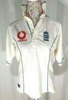 England Cricket Ashes 2005 Shirt - UK Size S - Vodafone - Admiral - White - Good