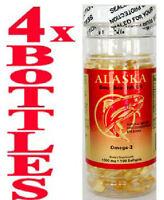 4x Alaska Deep Sea Fish Oil, =400caps, Omega-3, EPA DHA