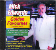 MICK EDWARDS - GOLDEN FAVOURITES VOL 2 - 20 COUNTRY FAVOURITES CD - FREE POST IN