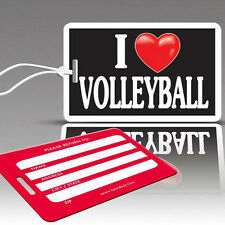 TagCrazy Fun Luggage Tags, I Heart Volleyball Design, Durable Plastic Loops,1 Pk