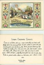 VINTAGE FARM COTTAGE GARDEN GEESE LEMON CARAWAY COOKIES RECIPE 1 QUILT BED CARD