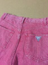 GUESS JEANS Red shorts denim usa georges marciano 32 vtg 90s hip hop rap