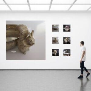 Installation corbeille écureuil argent vintage art déco contemporain design O475