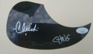 Cheech and Chong Signed Acoustic Pick Guard Jsa Coa