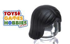 *NEW* LEGO 1x Minifig Wig Hair - Black - Girl - Female Straight Short City Woman