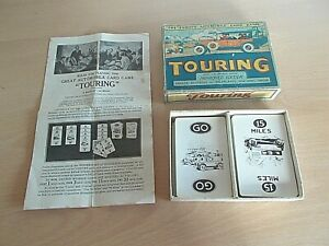 The Famous Automobile Card Game TOURING -Improved Edition In V.G.C.