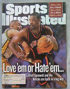 1999 Sports Illustrated Latrell Sprewell Knicks Vs Mark Jackson Pacers