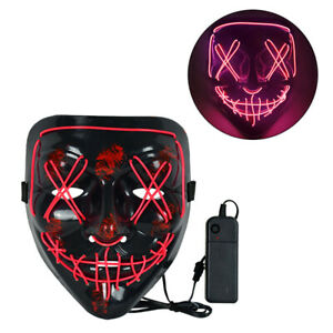Cosmask Halloween Neon Led Mask Masque Masquerade Party Masks Light Glow gifts