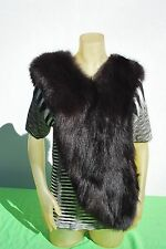 vintage MOSCHINO Cheap and chic fox fur wrap stole jacket cape vest FUN & FAB M