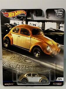 VW Volkswagen Bug Cruise Boulevard Hot Wheels Real Riders 1:64 FYN80