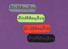 BIRTHDAY BOY die cuts scrapbook cards