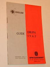 guide 1962 exposition DRUPA heidelberg DÜSSELDORF OFMI GARAMONT offset SOLNA