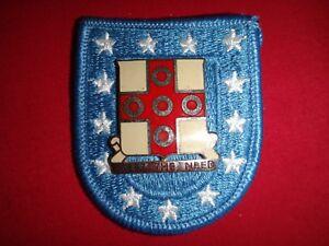 US 56th SUPPLY & SERVICE BATTALION Unit Crest Metal Badge On Beret Patch Flash
