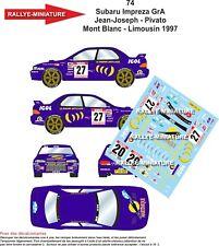 Calcomanías 1/43 Ref 0074 Subaru Impreza Gra Jean-Joseph Mont Blanco - Lemosín