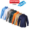SALE! Hard Yakka Long Sleeve 2 PACK Cotton Drill Work Shirt Tradie Button Y07500