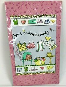 """Silvestri 6 3/4"""" SUE DREAMER 3D Wall Plaque Home is Where the Laundry is..."""