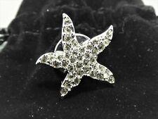 Swarovski Starfish Tie Tack/Lapel Pin - New in original velvet bag