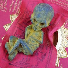 Voodoo Doll Skull Skeleto Ritual Big Head Kuman Thong Thai Ghost Doll Amulet