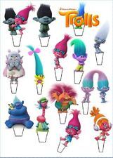 "14 x 3"" TROLLS STAND UP TROLL PRECUT Edible Wafer Cupcake Toppers"