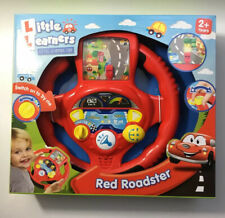 NEW Little Learners Red Roadsters Activity Steering Wheel Sound/Flashing Lights