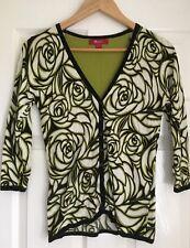 Monsoon Womens Floral Cotton Cardigan UK 8