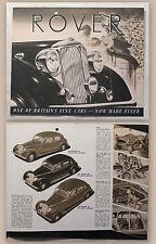 Werbeprospekt Broschüre Rover 75 Four-Light Saloon 1948 Automobil Oldtimer rara