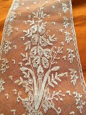 Dentelle Trine Lace Ancienne Ruban Application Bonnet Coiffe Bouquet Regional