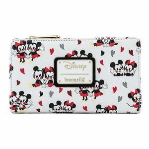 Disney Mickey & Minnie Mouse Love AOP Flap Wallet