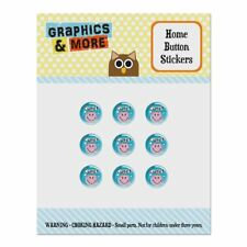 Cute Eyelashes Pink Smiley Face Home Button Stickers Fit Apple iPhone