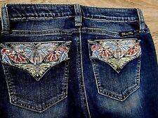 NWT MISS ME Embellished Pockets Skinny Stretch Jeans 26 x 30 Medium Blue M3033S