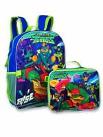 """Ninja Turtles TMNT 16"""" Backpack with Detachable Matching Lunch Box - 2 Piece Set"""
