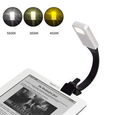 USB Rechargeable Clip On Book Light LED Flexible Reading Lamp For Reader Kindle*