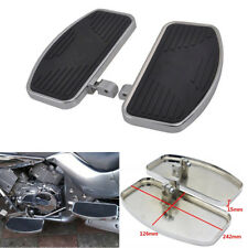 2x Universal Metal Rubber Foot Board Pedal Footrest for Motorcycle Glide Custom