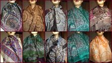 20 PC Pure Silk Square Scarf Wholesale Lot Square Scarves Stoles Wraps Hizab