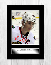 More details for jonathan teows 1 chicago blackhawks nhl signed a4 poster choice of frame