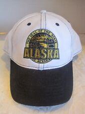 Alaska State Seal hat cap white black