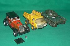LOT de 3 jouets char JOUSTRA Camion TONKA voiture ROMAN juguetes Spain