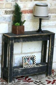 Black Rustic Side Table