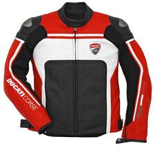 Ducati Uomo Motociclo Giacca Cuoio Da Corsa Gli sport Motociclistica Protezione