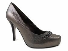Isola Women's Coral Classic Pumps Silver Cintoia Printed Leather Size 7.5 M