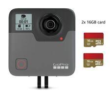 GoPro Fusion 360 Degree Digital VR 5.2K HD Action Video Camera mount 2x 16G card