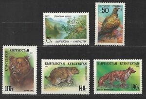 Kirgisien, 1992-1995, postfr., Tiere